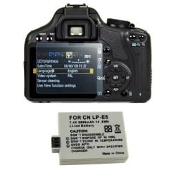 Screen Protector/ Battery for Canon EOS 500D/ Digital Rebel T1i