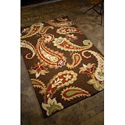 Hand-Hooked Abstract Rug (2' x 3')
