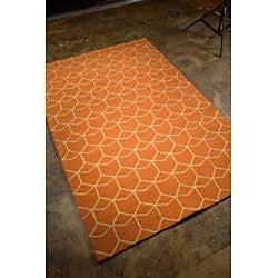Hand-hooked Abstract Rug (5' x 7' 6)