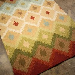 Hand-Hooked Abstract Rug (7' 6