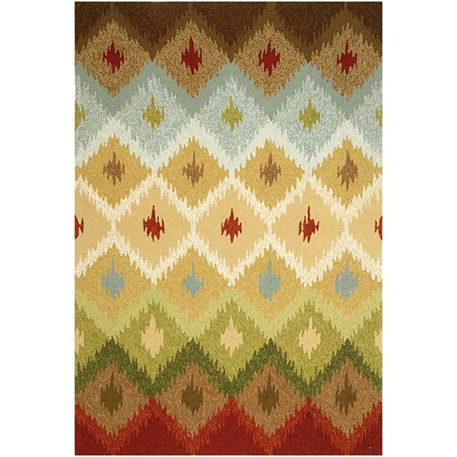 """Hand-Hooked Abstract Rug (7' 6"""" x 9' 6"""")"""