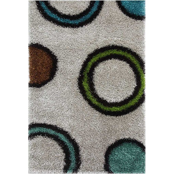 Hand-woven Polyester Rug (2' x 3')