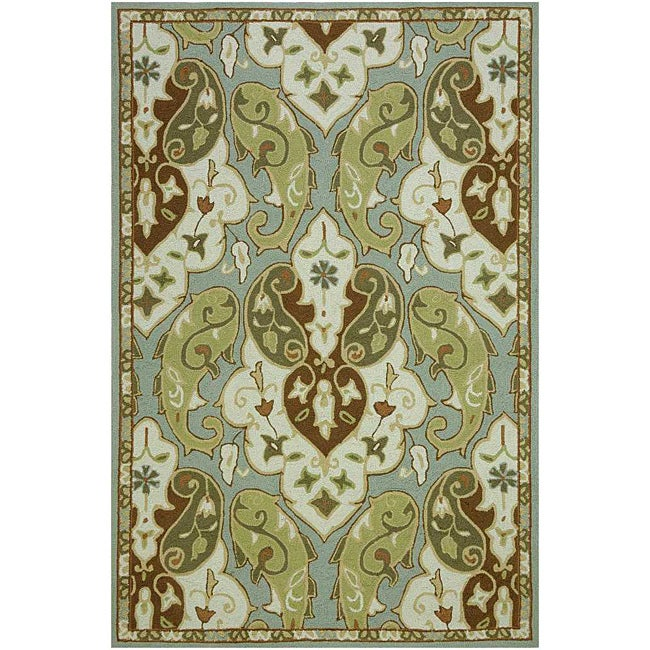 JRCPL Hand-Hooked Green/ Brown Rug (2' x 3') at Sears.com