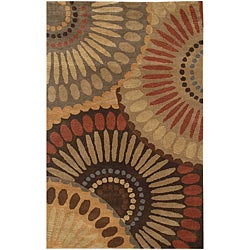 Hand-Tufted Tan Wool Area Rug (9'6 x 13'6)