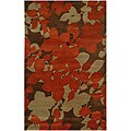 Hand-Tufted Red Floral Wool Area Rug (9'6 x 13'6)