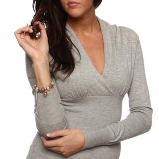 La Preciosa Silverplated Pink and White Glass Bead Charm Pandora-style Bracelet