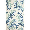 Hand-Tufted Blue Area Rug (5' x 7'6)