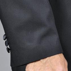 Carlo Lusso Men's Black 2-button Tuxedo