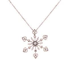 La Preciosa Sterling Silver CZ Snowflake Necklace