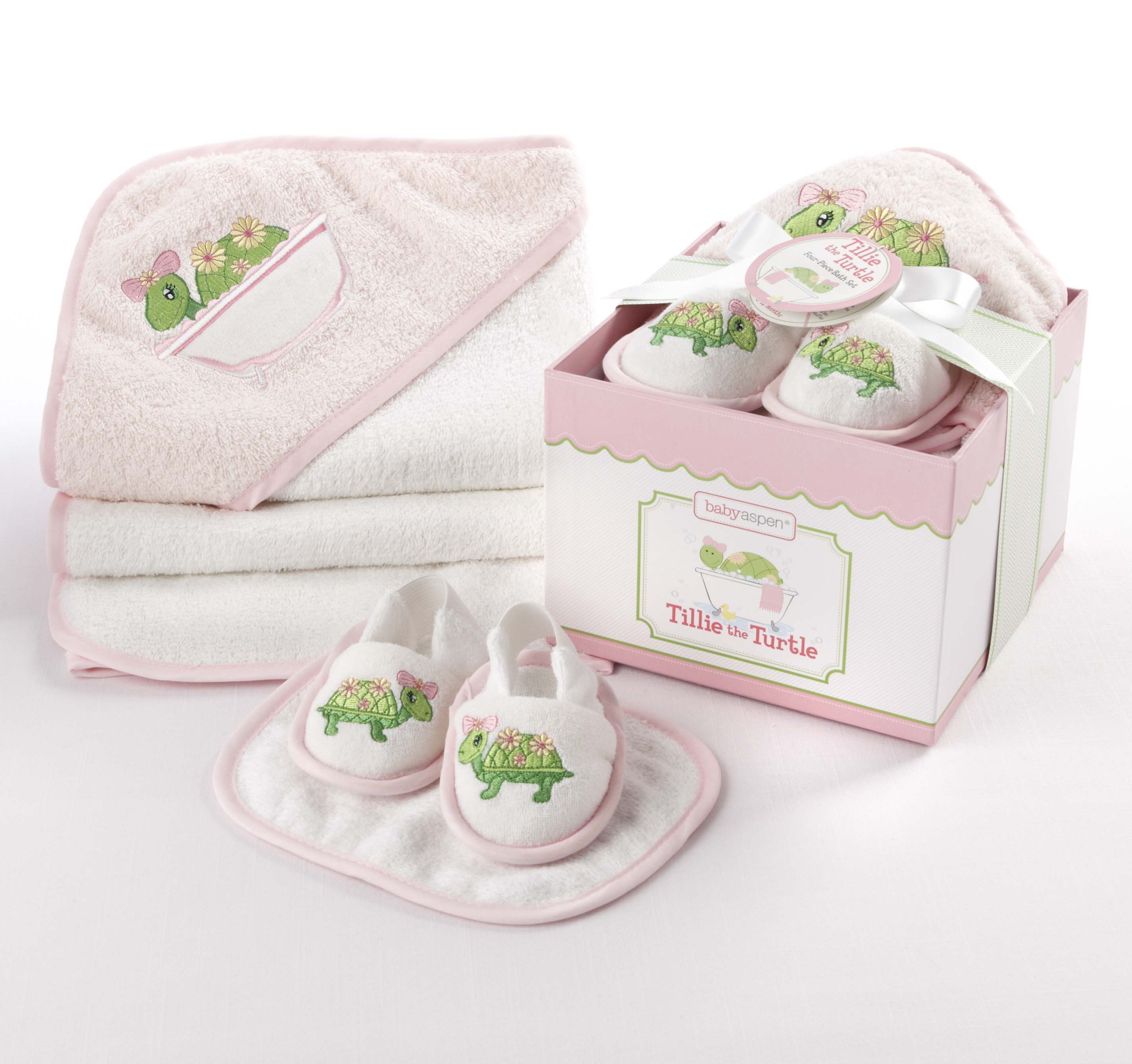 Baby Aspen 'Tillie the Turtle' 4-Piece Bath Time Gift Set