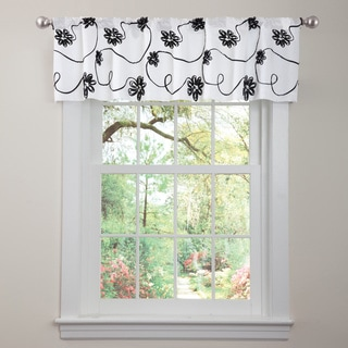 Lush Decor Black/ White Milione Fiori Valance
