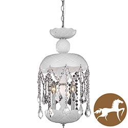 Christopher Knight Home White 3-Light Chandelier