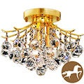 Christopher Knight Home 3-light Goldtone Flush-Mount Chandelier
