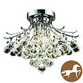 Christopher Knight Home 3-light Chrome Flush-Mount Chandelier