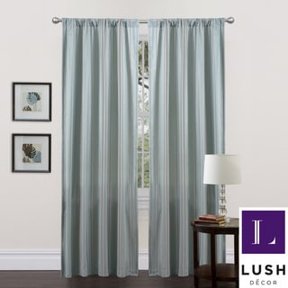 Lush Decor Blue-Stripe Haru 84-Inch Curtain Panel