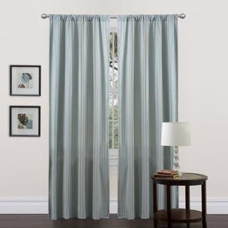 Lush Decor Blue-Stripe Haru 84-Inch Curtain Panel
