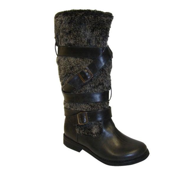 Bucco Women's Black Faux Fur Boots