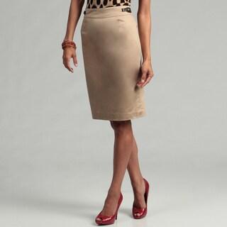 Calvin Klein Women's Dark Khaki Pencil Skirt