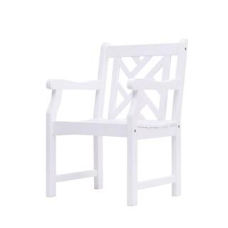 Bradley Outdoor Cross-back Wood Arm Chair