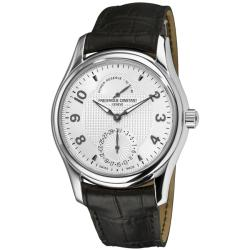 Frederique Constant Men's FC-720RM6B6 'RunAbout' Black Leather Strap Watch
