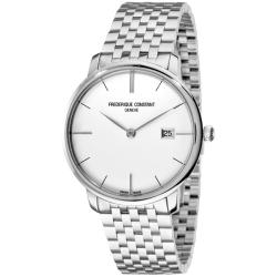 Frederique Constant Men's FC-306S4S6B 'Index' Curved Silver Dial Watch