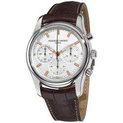 Frederique Constant Men's 'Peking to Paris' Brown Leather Strap Watch