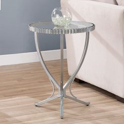Scalloped Metal End Table
