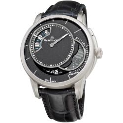 Maurice Lacroix Men's PT6218-TT031-330 'Pontos' Black Moonphase Dial Watch