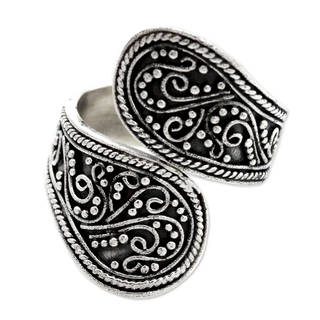 Sterling Silver 'Together' Wrap Ring (Indonesia)