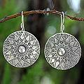 Sterling Silver 'Lampang Moon' Earrings (Thailand)