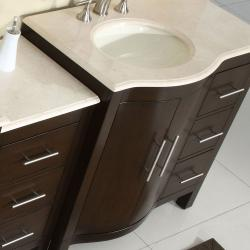 Counter Top Bathroom Single Sink Cabinet Vanity Lavatory 54inch