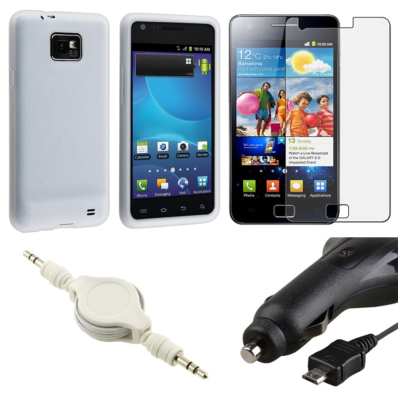 Case/ LCD Protector/ Charger/ Audio Cable for Samsung Galaxy S2 i9100