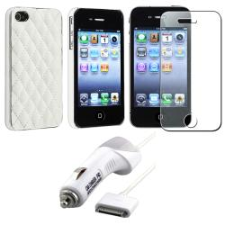 Case/ Diamond LCD Protector/ Car Charger for Apple iPhone 4S