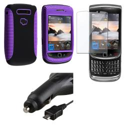 Hybrid Case/ Screen Protector/ Charger for BlackBerry Torch 9810