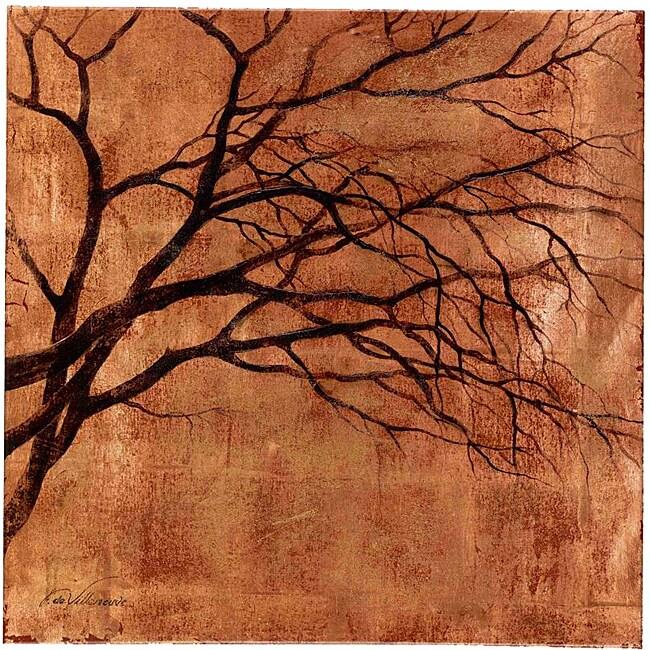Fabrice de Villeneuve's 'Reflection of Autumn' Giclee Canvas Art