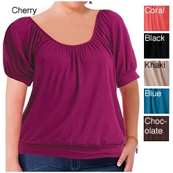 Illusions Women's Plus Size Everyday Scoopneck Top