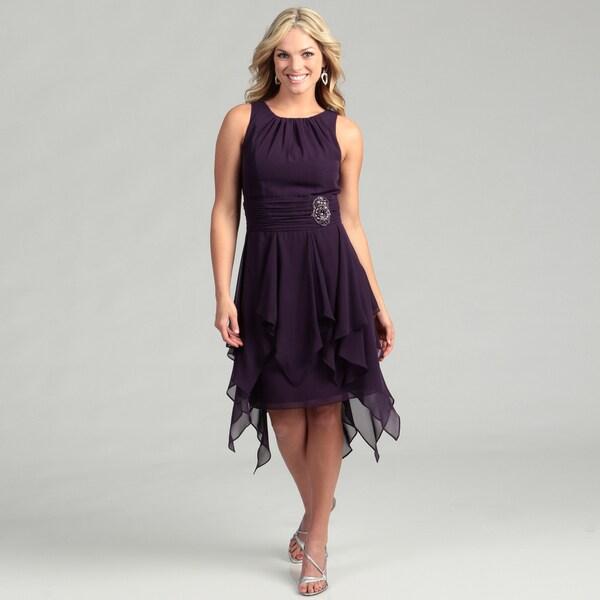 Jessica Howard Women's Egg Bead Embellished Dress