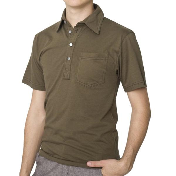 American Apparel Men's Light Army Green Fine Jersey Leisure Shirt