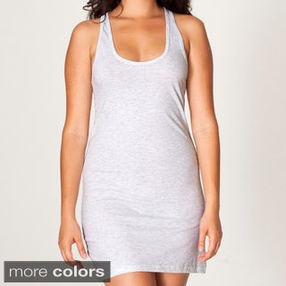 American Apparel Women's Fine Jersey Racerback Tank Dress