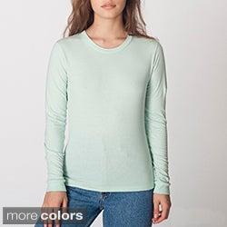 American Apparel Women's Fine Jersey Long-sleeve T-shirt
