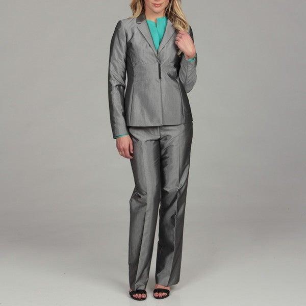Calvin Klein Women's Black/ White Pant Suit