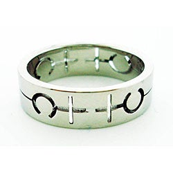 Stainless Steel Female Symbol Gay Pride Band