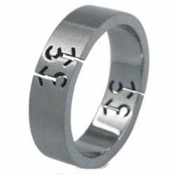 Stainless Steel Male Symbol Gay Pride Brushed Band