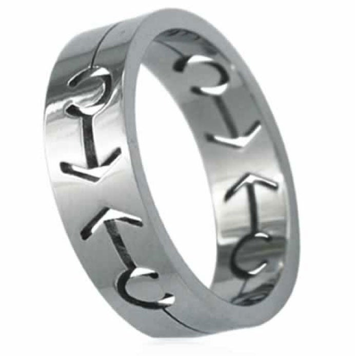 Stainless Steel Male Symbol Gay Pride Band