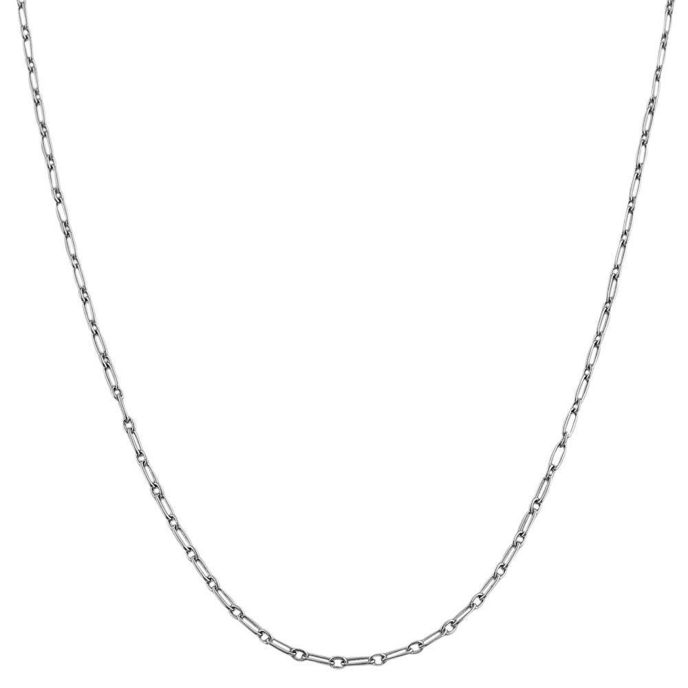 Fremada Sterling Silver Alternate Link Chain Necklace (18-inch)