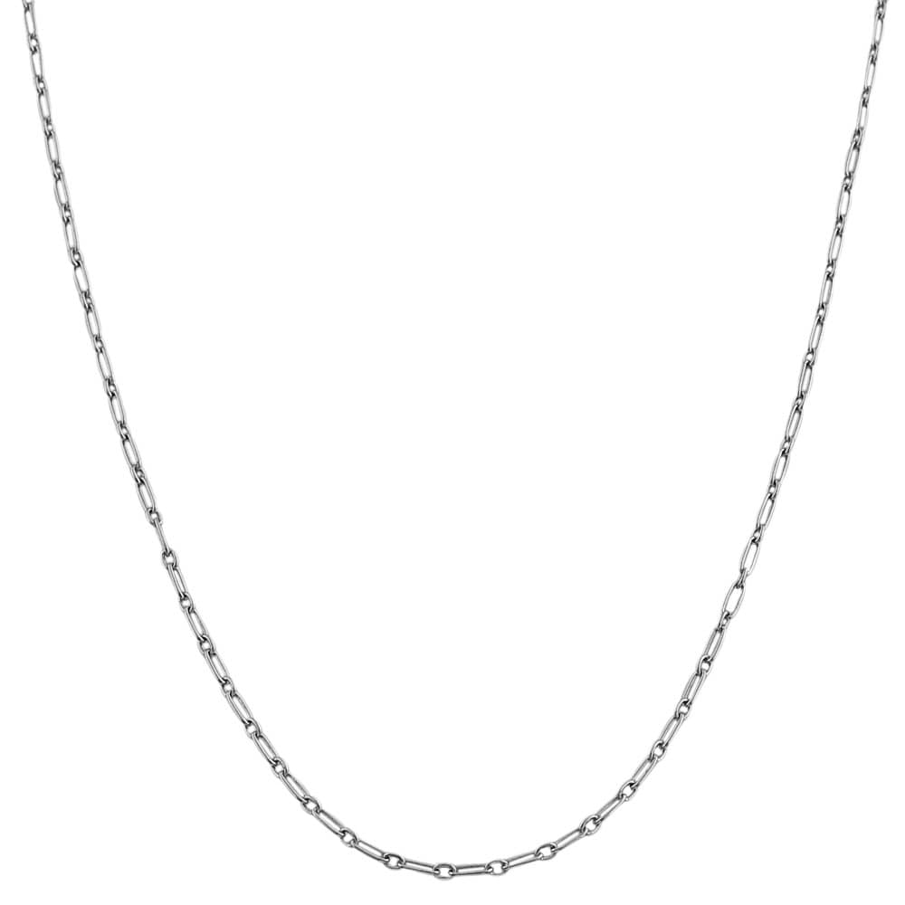Fremada Sterling Silver Alternate Link Chain Necklace (16-inch)