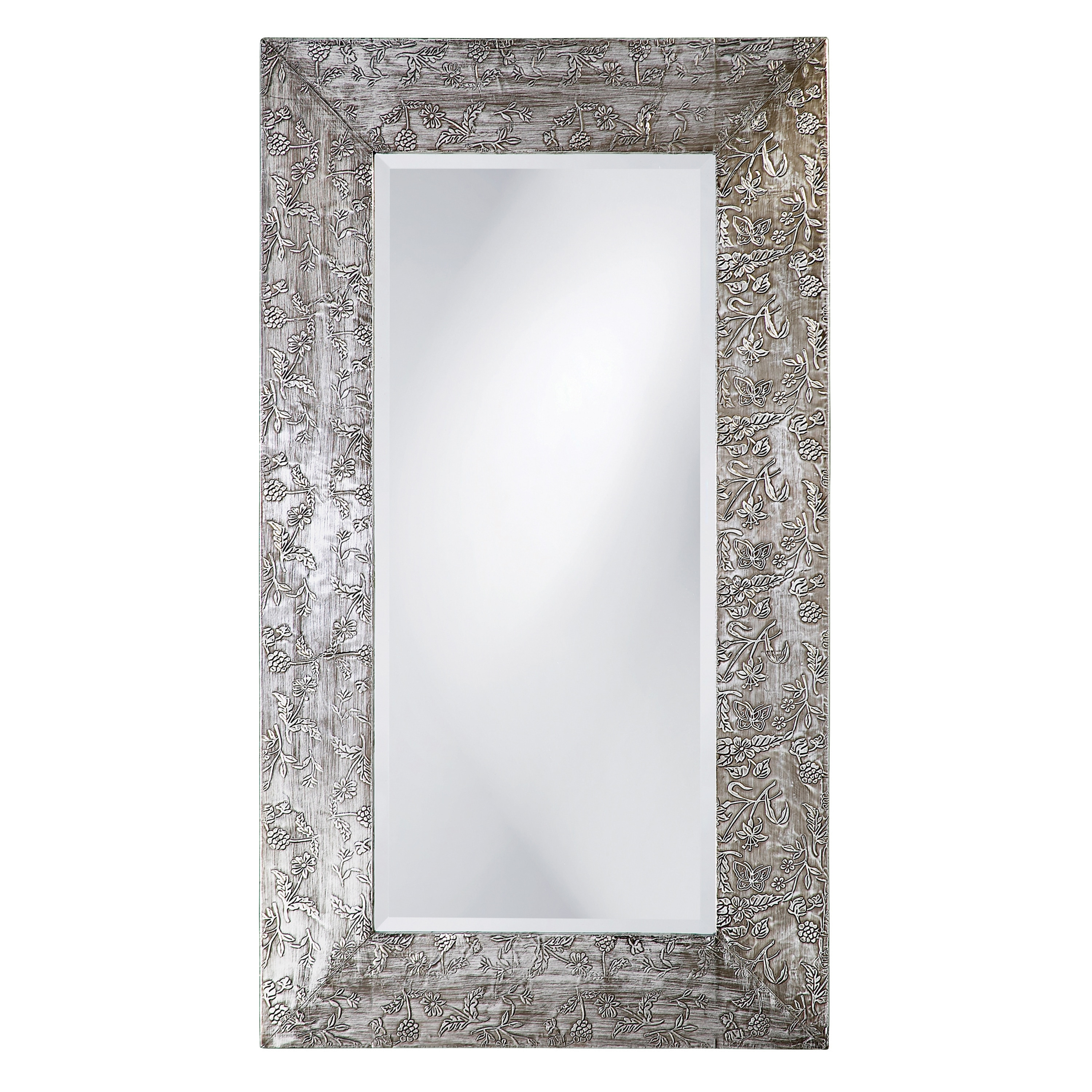 39 New Zealand 39 Silver Wood Mirror 14040211 Overstock