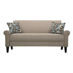Portfolio Harper Cream Chenille Rounded Arm Sofa