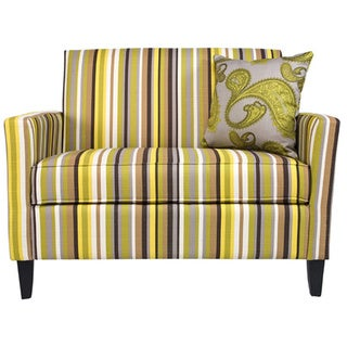 Angelo Home Sutton Sunflower Yellow Stripe Loveseat Overstock Shopping Great Deals On