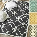 Rug Collective Handmade Indoor / Outdoor Lattice Trellis Rug (7'6 x 9'6)